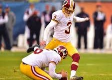 photo of Redskins kicker Dustin Hopkins