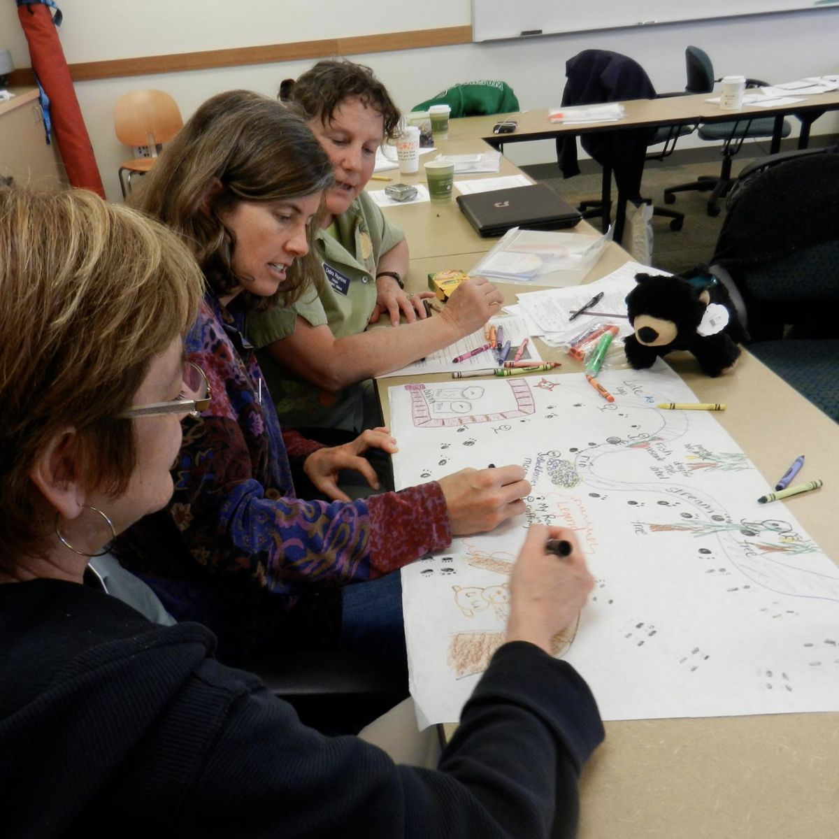 Teachers working with maps at a desk. Photo: C-GEO