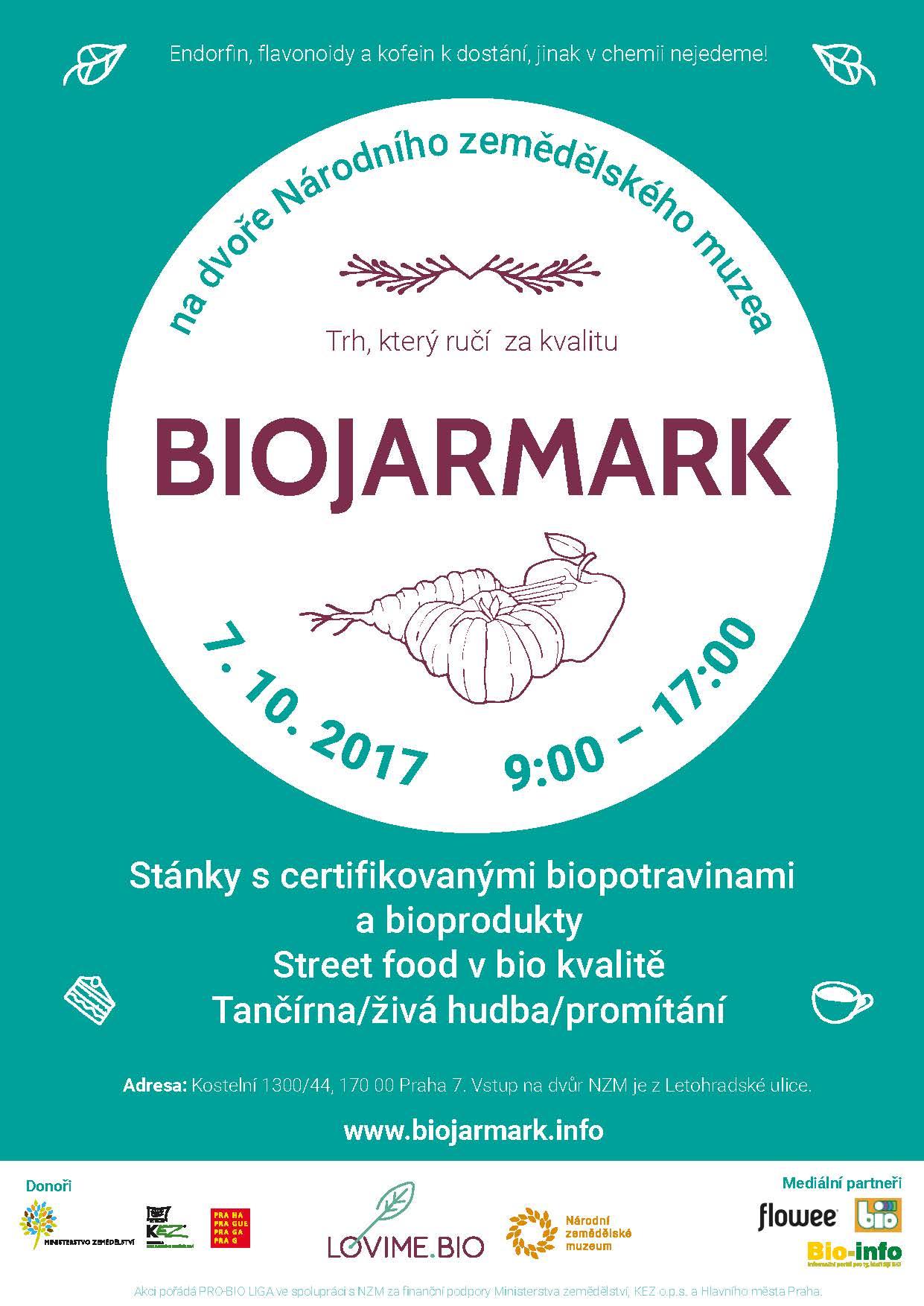 Biojarmark Praha, 7.10.2017 Národní zemědělské muzeum
