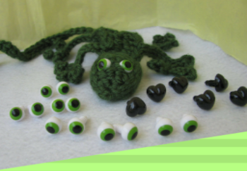 10mm Frog  / Google Safety Eyes with Washers  (FGE-1)