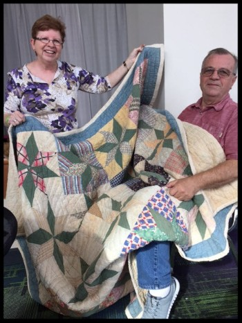 Jerry & Carolyn with Jerry's Quilt