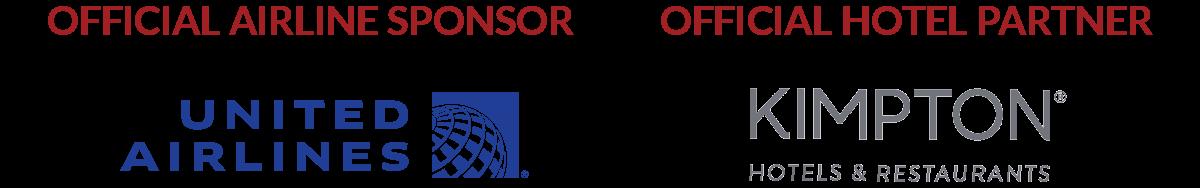 Official Airline Sponsor: United Airlines; Official Hotel Partner: Kimpton Hotels & Restaurants