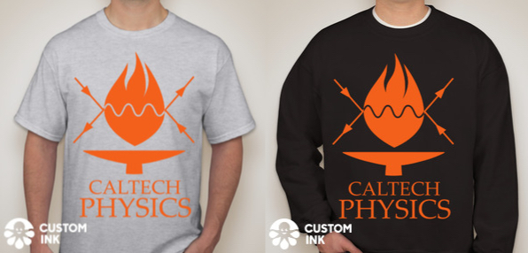 physics t-shirt and sweater