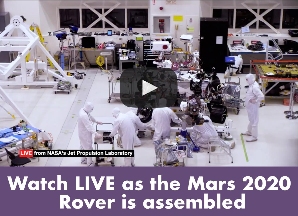 mars 2020 rover live stream