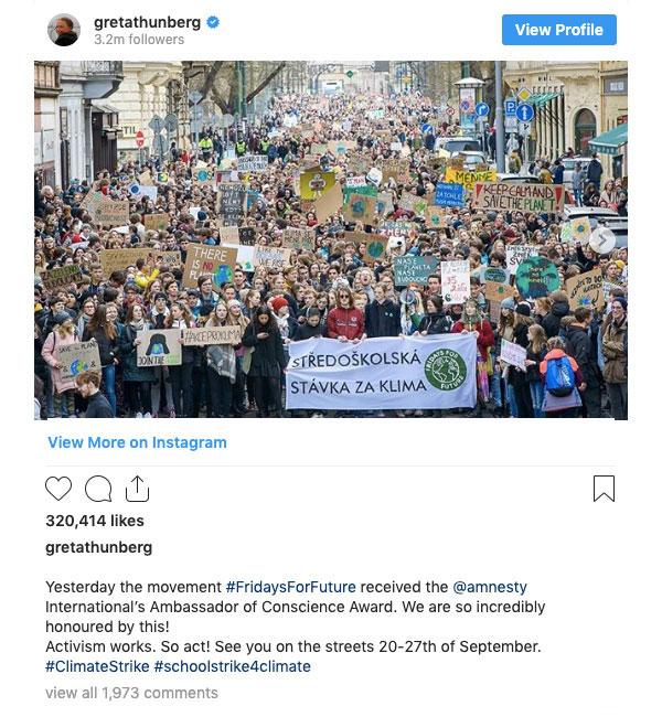 Greta Thunberg - Instagram