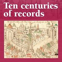 Logo for Ten Centuries of Records exhibition