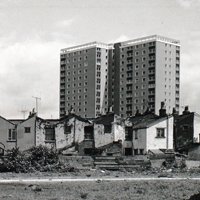 Tower blocks and Victorian housing in Easton, 1960s