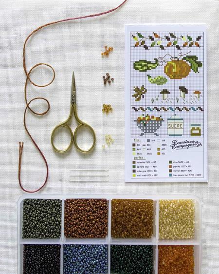 assortiment de perles automne