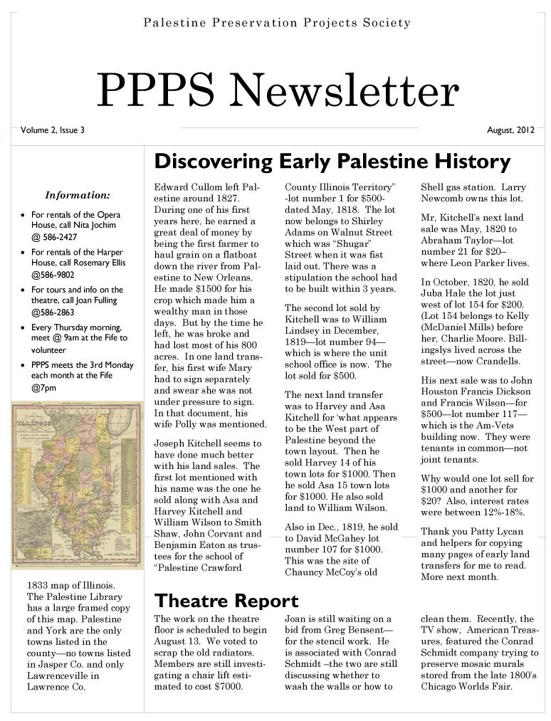 PPPS Newsletter - 08.2012