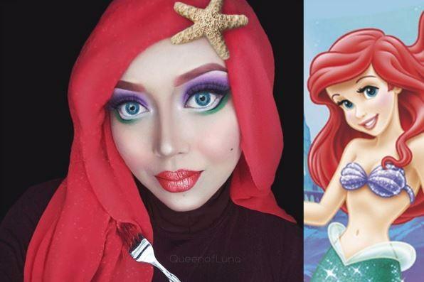 بالصور, فتاة ماليزية تحول نفسها إلى شخصيات كرتونية أقرب للحقيقة بينما ترتدي الحجاب