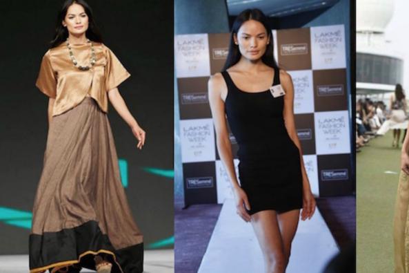 متحول جنسي يشارك بأسبوع الموضة بالهند لأول مرة!!
