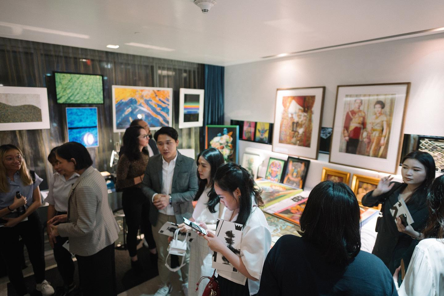 "Selected artworks from ""The Colours of Emotion"" displayed at the Hotel Art Fair 2019, Bangkok, THAILAND."