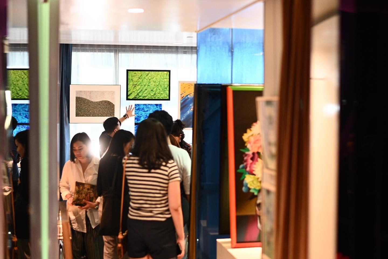 งานบางส่วนที่ได้ถูกคัดเลือกให้ร่วมแสดงในงาน Hotel Art Fair 2019