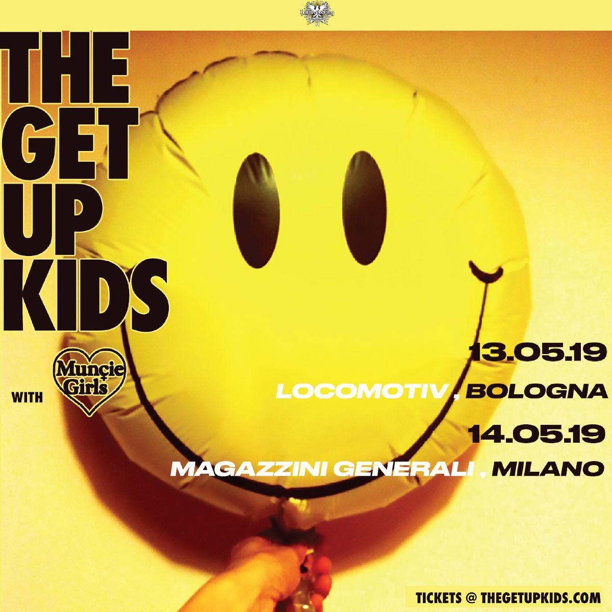the get up kids maggio 2019 bologna milano