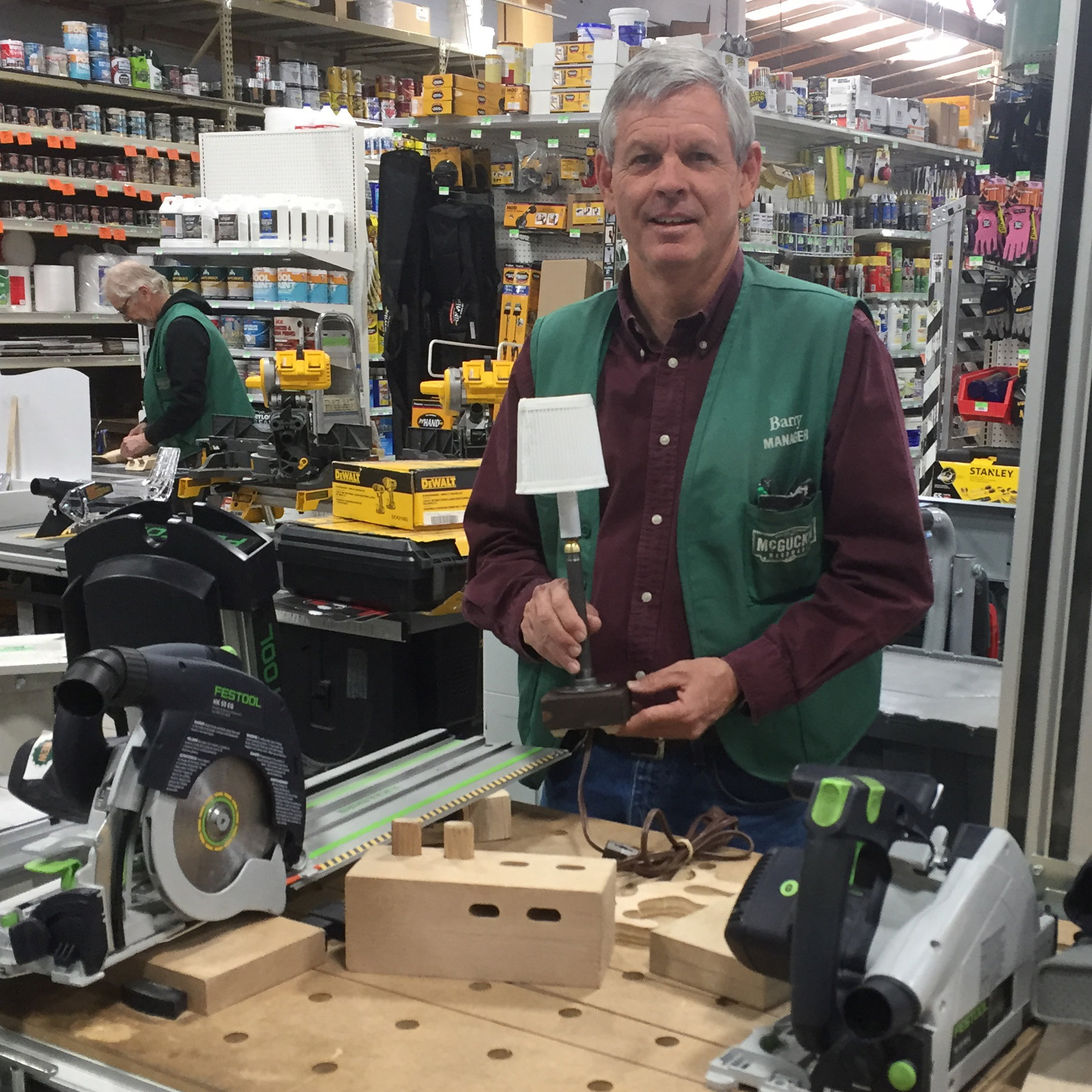 Barry Hight with Workshop Lamp