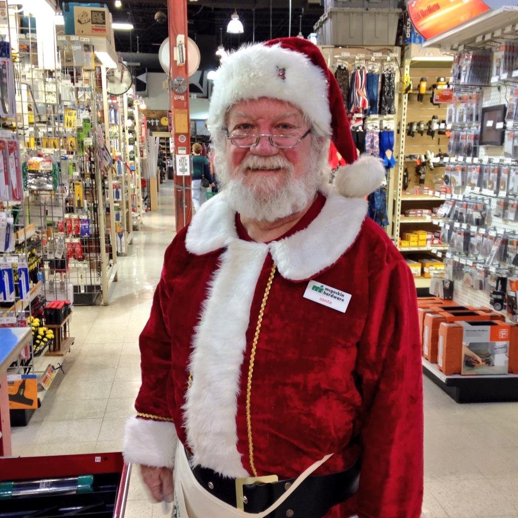 Santa Jim in Tools