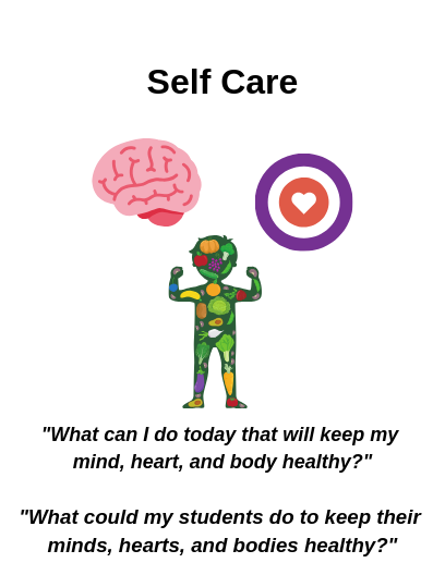Self-Care: What can I do today that will keep my mind, heart, and body healthy?