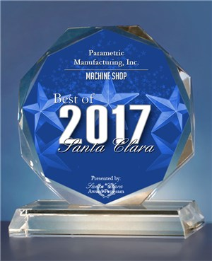 Awarded Best Machine Shop, Santa Clara 2017