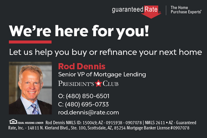 Contact Rod Dennis at Guaranteed Rate to help you buy or refinance your next home. http://www.rate.com