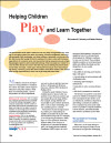 Helping Children Play and Learn Together