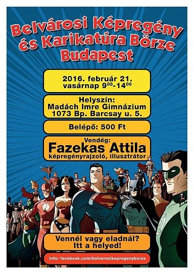 A Belvárosi Képregény és Karikatúra Börze plakátja