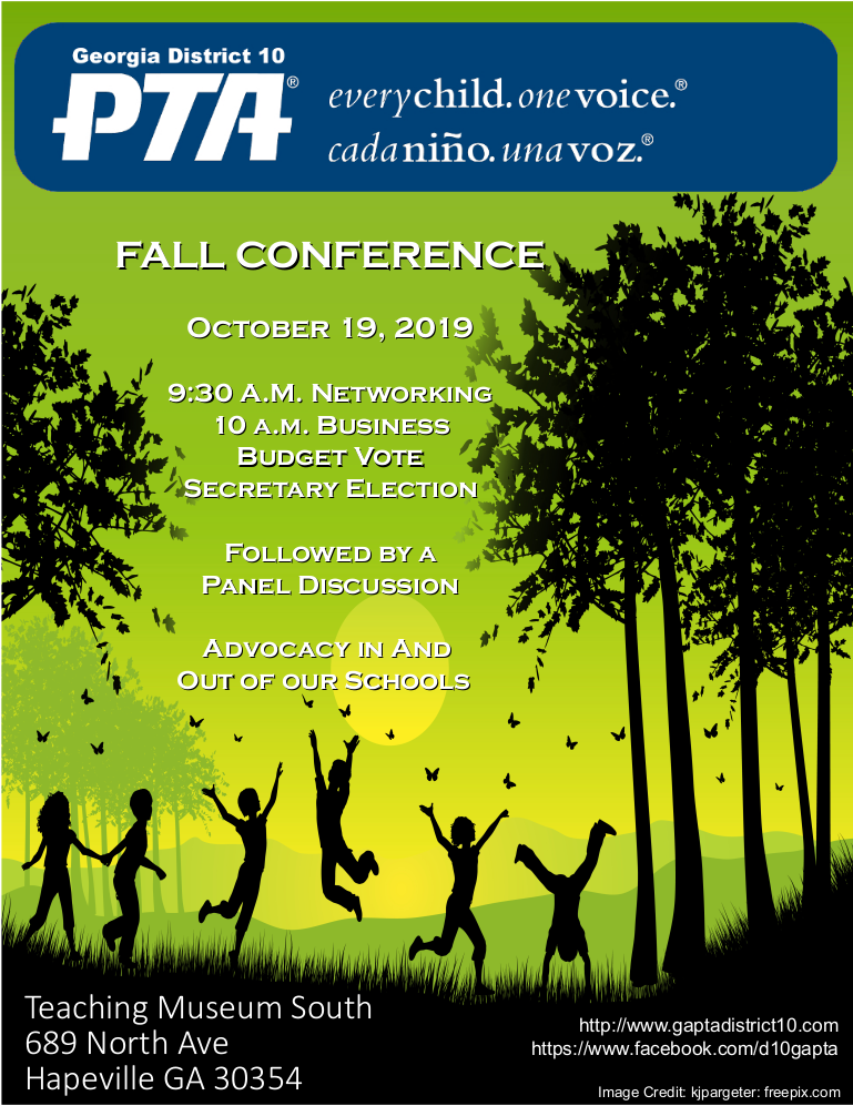 Call to D10 Conference Fall 2019
