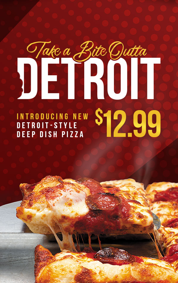 Introducing the new Detroit-Style Deep Dish Pizza