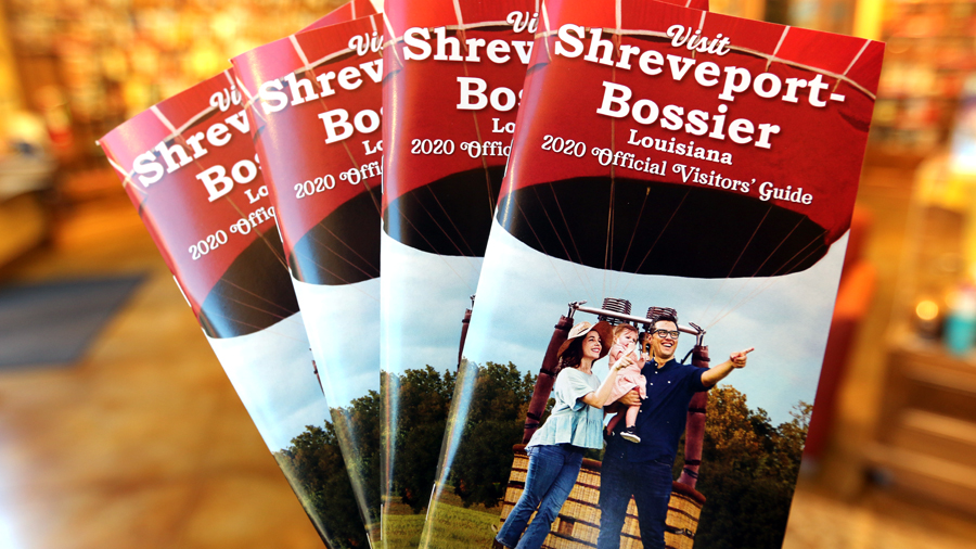 Cover of the 2020 edition of the Official Visitors' Guide to Shreveport-Bossier