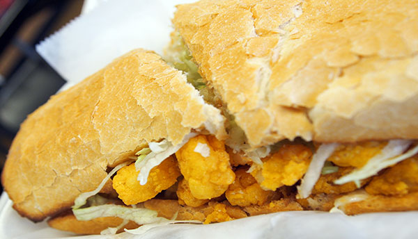 Poboy sandwich at Kim's Seafood
