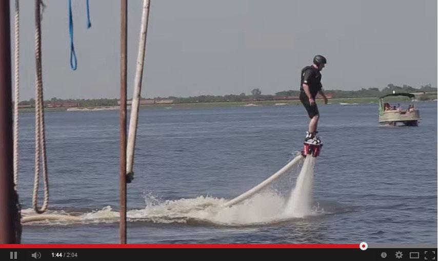 Ark-La-Tex Flyboard video