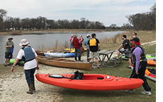 Loading kayaks in Lincoln Park
