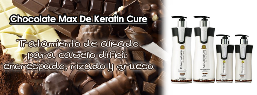 Alisado Keratin Cure Chocolate Max. Alisado cabello rizado