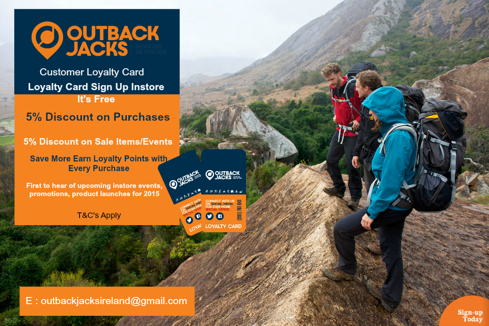 Sign up to Outback Jacks Loyalty Card NOW!