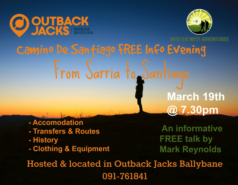 Outback Jacks Camino de Santiago Info Evening
