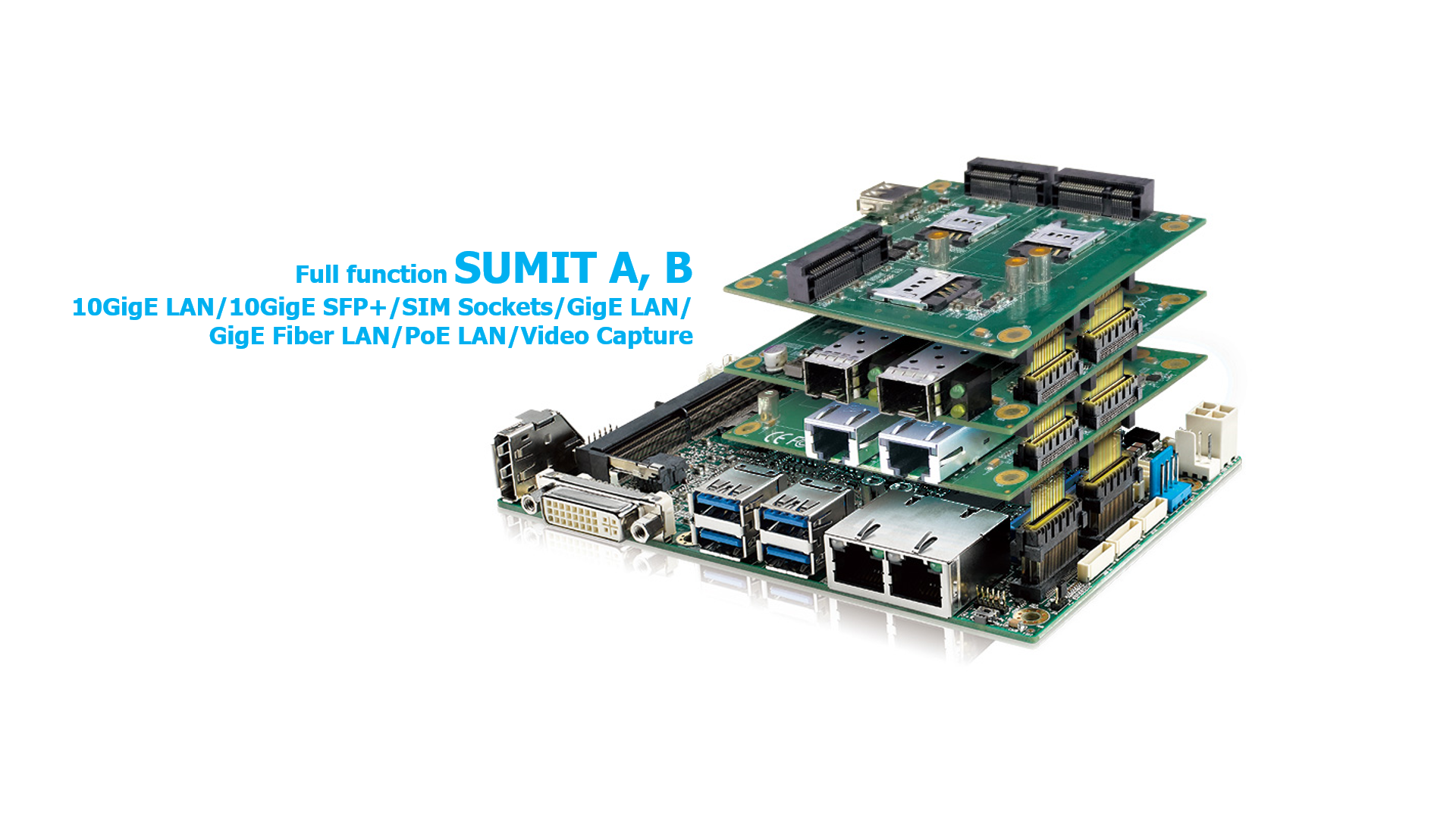 Vecow EMBC-3000 SBC support Rugged SUMIT expansion
