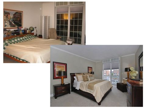master bedroom before/after