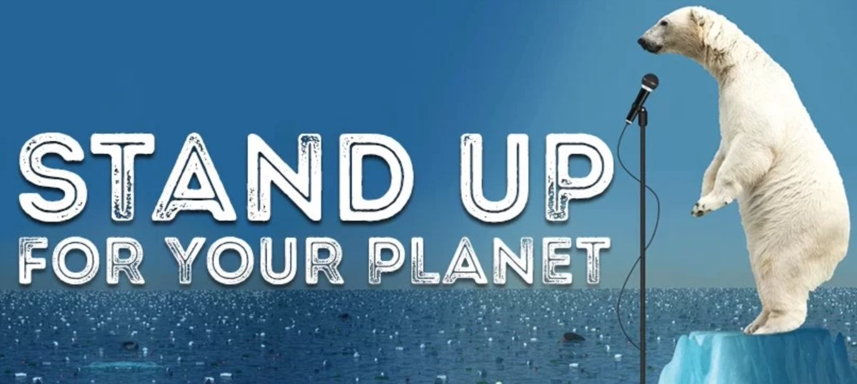Stand Up for Your Planet - image for comedy fundraiser at Assembly Hall on August 19th