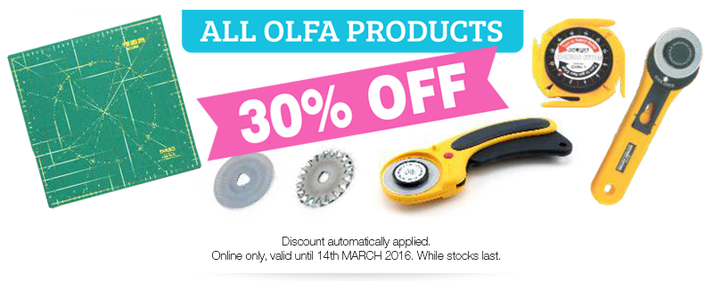 30% OFF all OLFA Products