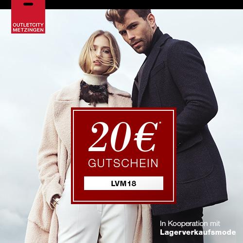 Outletcity Metzingen 20 EUR Gutschein