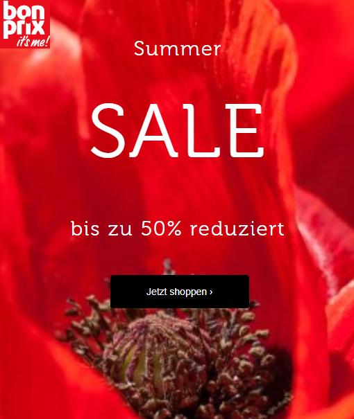 bonprix: bis -50% im Summer-SALE
