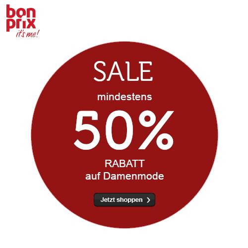 bonprix: mindestens 50% RABATT auf Damenmode