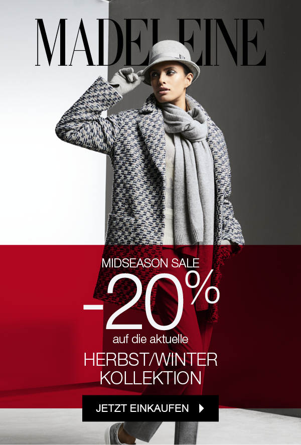 MADELEINE Midseason SALE -20% auf AKTUELLE Kollektion