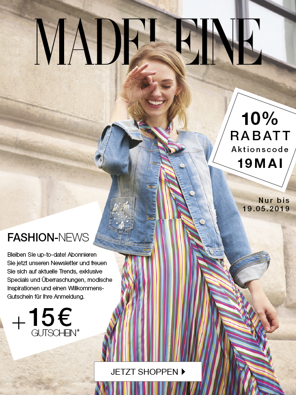 MADELEINE: 10% Rabatt & 15€ GUTSCHEIN