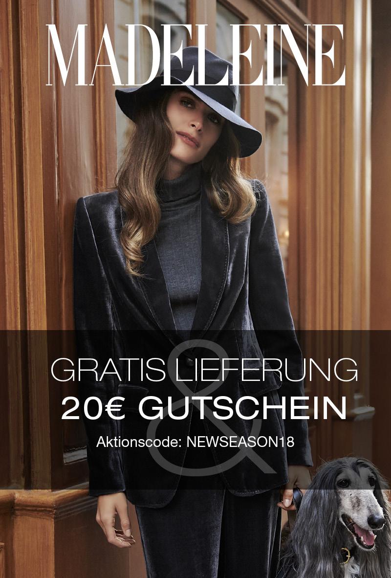 MADELEINE 20€ Gutschein + GRATIS Lieferung