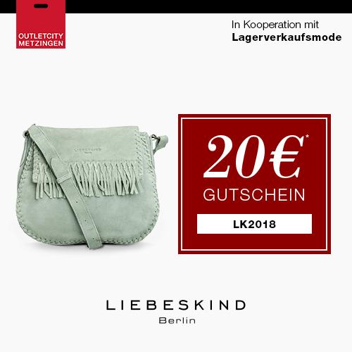 Liebeskind bis zu 50% reduziert shoppen + 20€ Gutschein bei OUTLETCITY.COM
