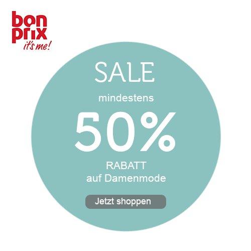 bonprix: mind. 50% RABATT auf Damenmode