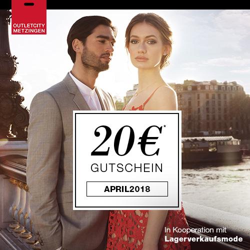 20€ Gutschein + Frühjahrsstyles bereits 30% reduziert bei OUTLETCITY.COM
