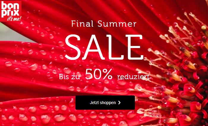 bonprix: Mode im Final Summer  Sale bis -50% reduziert