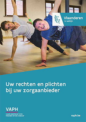 cover brochure 'Uw rechten en plichten bij uw zorgaanbieder'