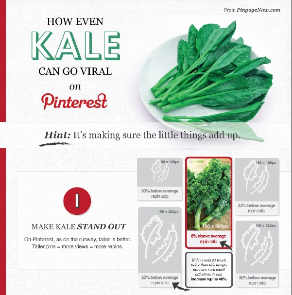 INFOGRAPHIC: How Even Kale Can Go Viral on Pinterest
